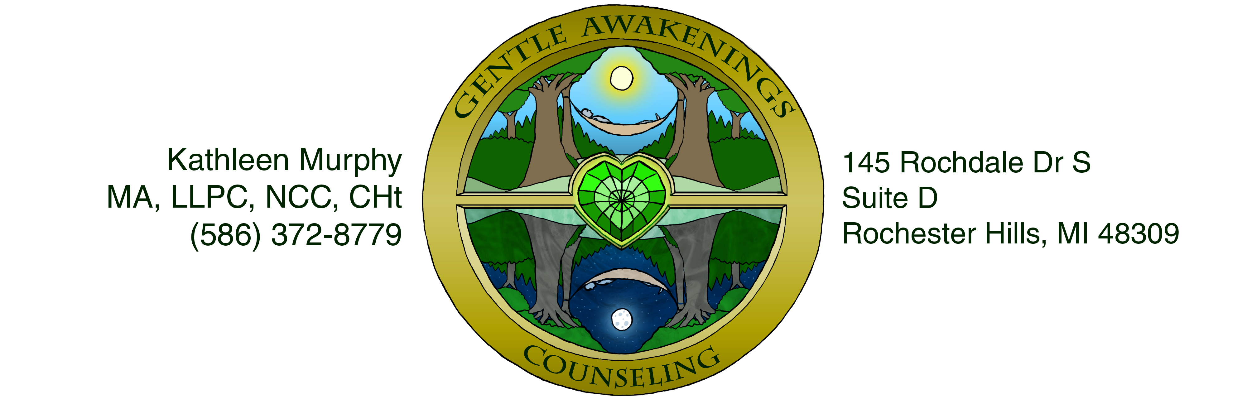 Gentle Awakenings Counseling | Emerald Dream Hypnosis | Rochester Hills Michigan